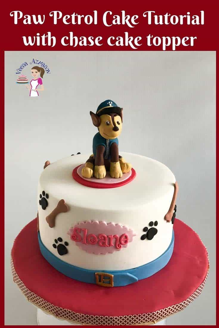 Learn how to make the Paw Petrol Cake with the dog Chase Cake Topper with this Video tutorial #pawpetrol #paw #pertrol #cake #Chase #caketopper #tutorial