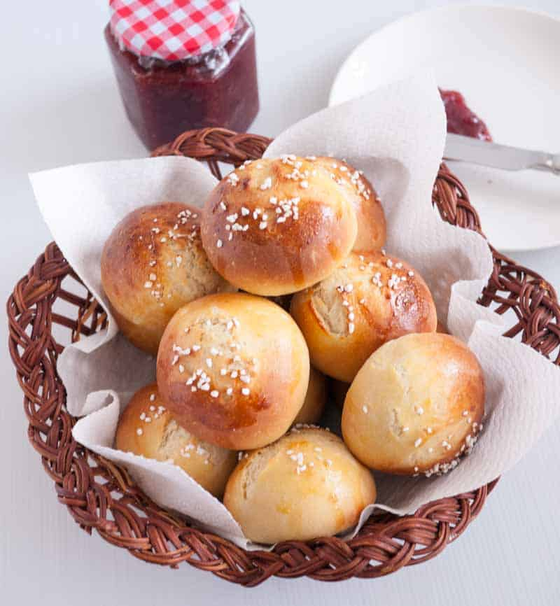 Brioche Bread made into Buns for Dinner or Burgers