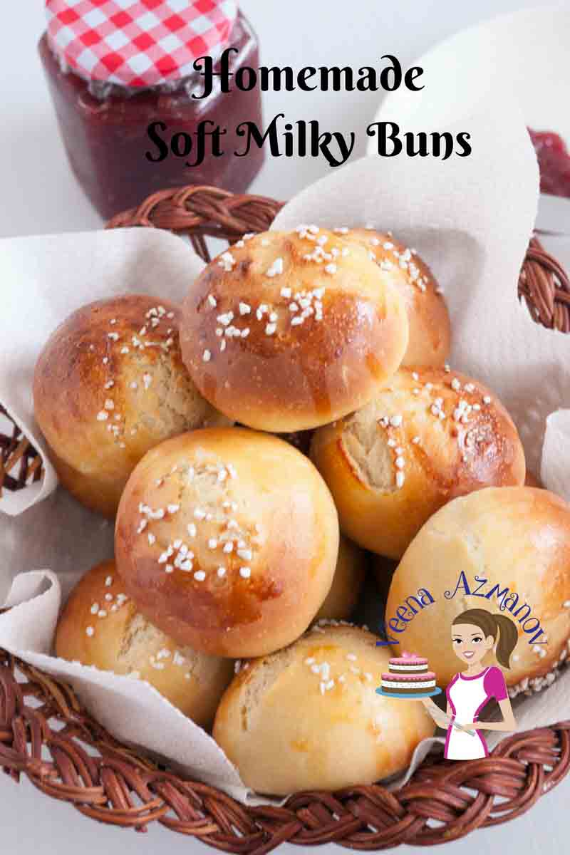 These homemade soft milk buns are so soft sweet and milky they almost melt in the mouth. You can eat them on their own or serve them along side butter and jam. It's best to make more as these go down a treat.