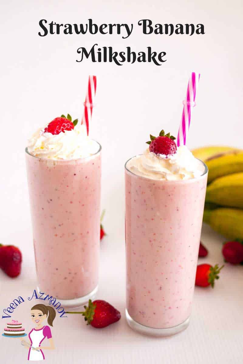 This strawberry banana milkshake is an absolute treat any time of the day. Made with fresh or frozen fruits, luxurious scoop of vanilla ice cream and a whole lot of sunshine.