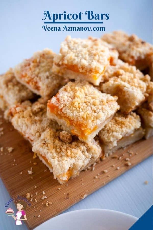 Pinterest image for apricot bars.