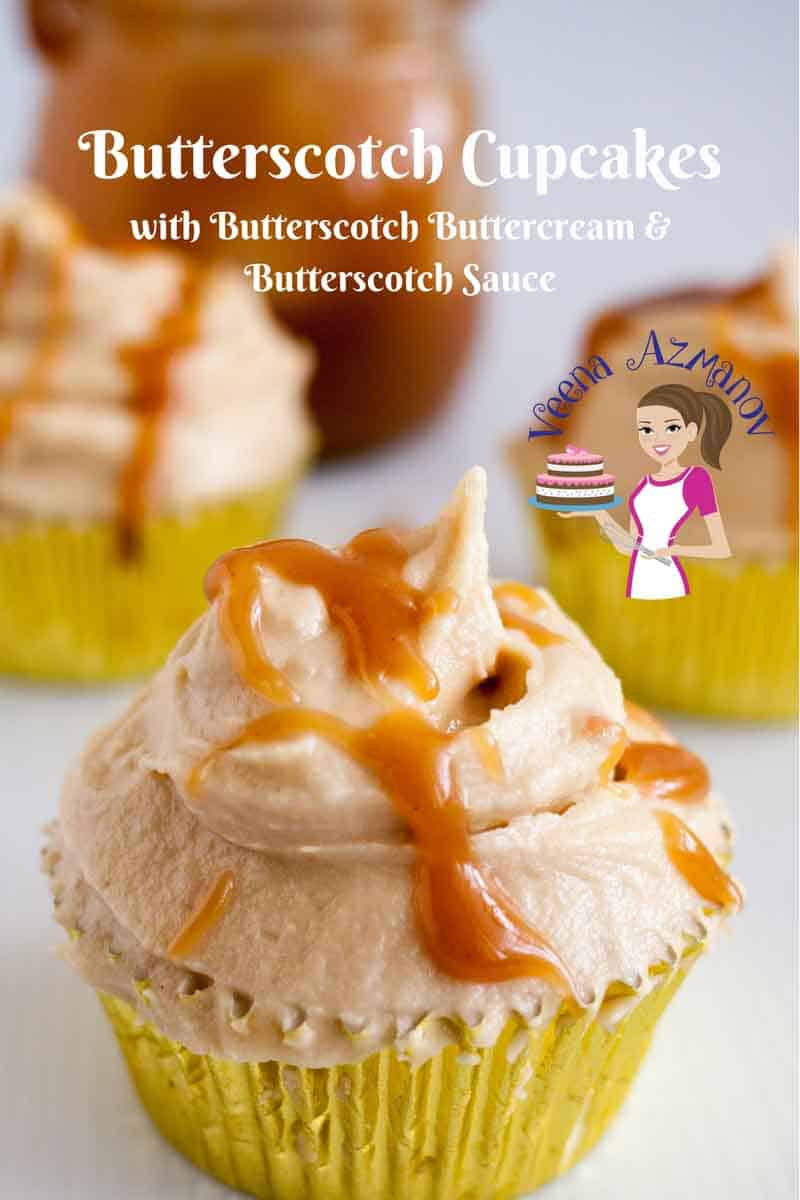 A cupcake with butterscotch frosting.