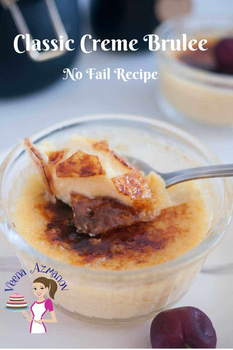 Nothing beats a classic dessert such as this Creme Brulee. A creamy rich custard based dessert baked in a water bath then topped with a layer of hard caramel. Looks impressive and exotic but truly very simple and easy to make.