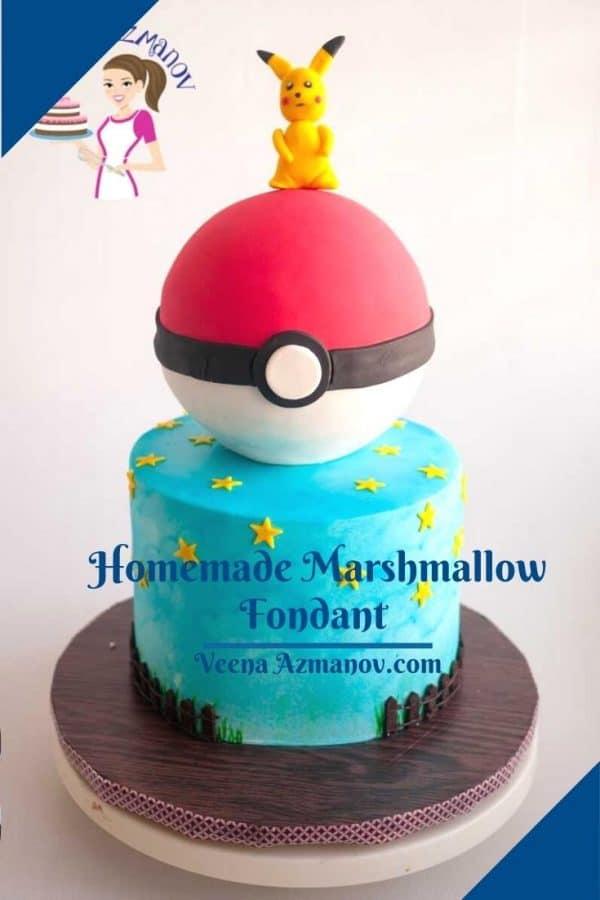 Pinterest image for marshmallow fondant.