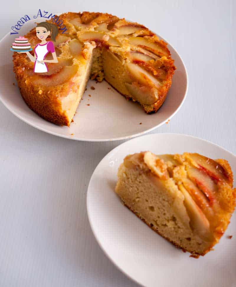 Peach Coffee Cake Using Frozen Peaches