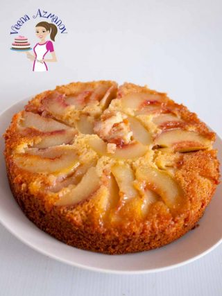 Moist Peach Upside Down Cake – Coffee Cake Recipe