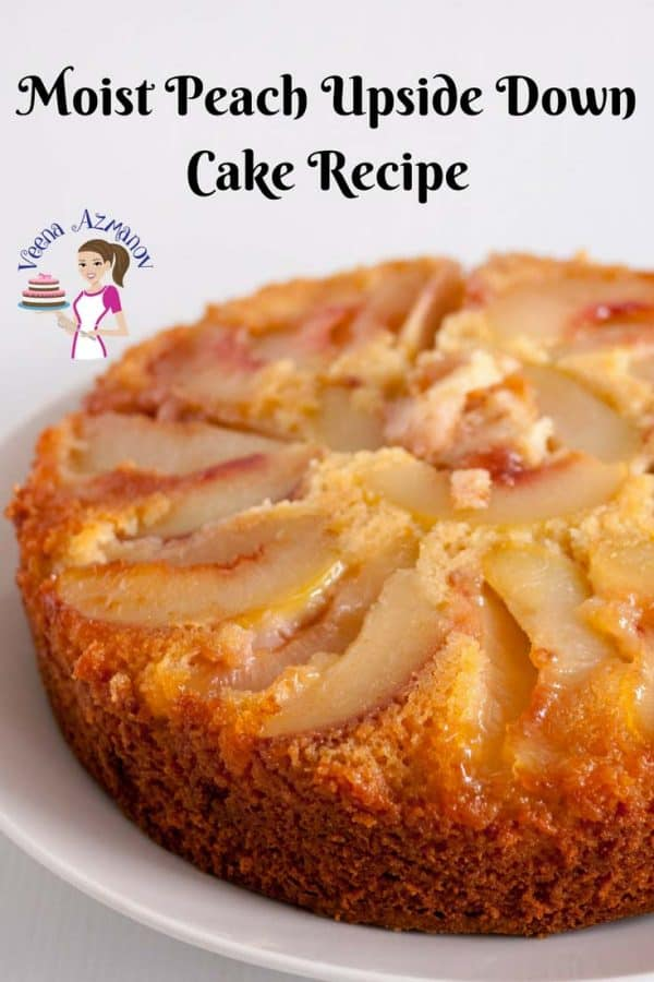 Fresh baked moist peach upside down cake oozing with caramelized fruit juices along side a nice warm cup of coffee. The best part is that it's simple, easy and my one bowl recipe baked from scratch.