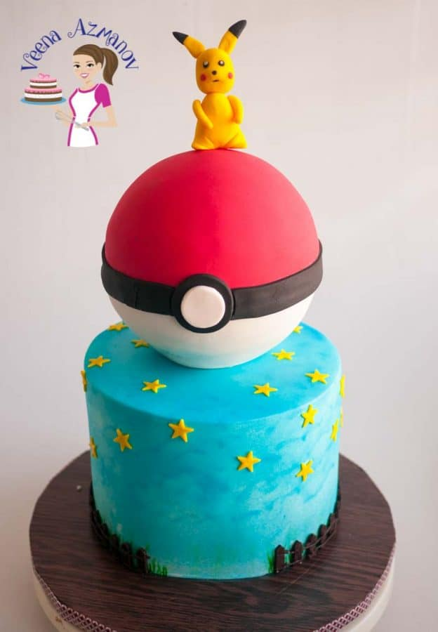A Pokemon Cake is a fun cake to make for kids who love online games. Surprisingly it's super fun and easy too! In this post I share details on how I made this cake.
