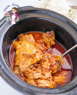 This slow cooker Indian chicken curry recipe will surprise you because it's so simple, easy and effortless. Ten minutes of hands on work and three hours unsupervised slow cooking will give you this beautiful deep red curry you can enjoy over a bowl of rice or just simple crusty bread.