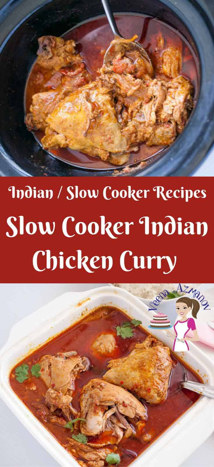 Slow cooker indian chicken curry recipe crock pot recipes this slow cooker indian chicken curry recipe aka crock pot chicken curry is a simple forumfinder Images