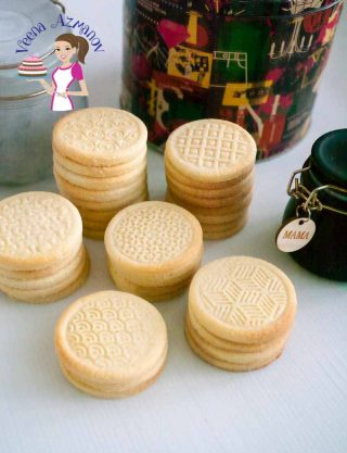Melt in the Mouth Shortbread Stamped Cookies
