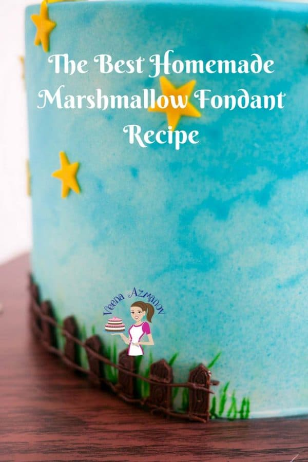What could be better than a fondant that tastes like candy and smells of marshmallow? This Homemade marshmallow fondant recipe is a must-have for kids cakes. This simple, easy and effortless recipe for marshmallow fondant uses only three ingredients and has an incredible stretch that covering a cake becomes easy peasy