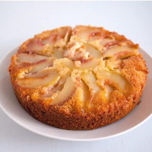 A peach cake.