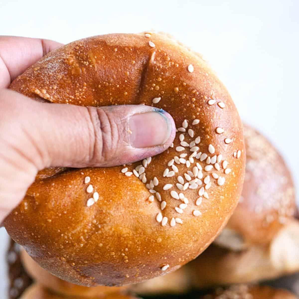 Soft burger buns in a basket.