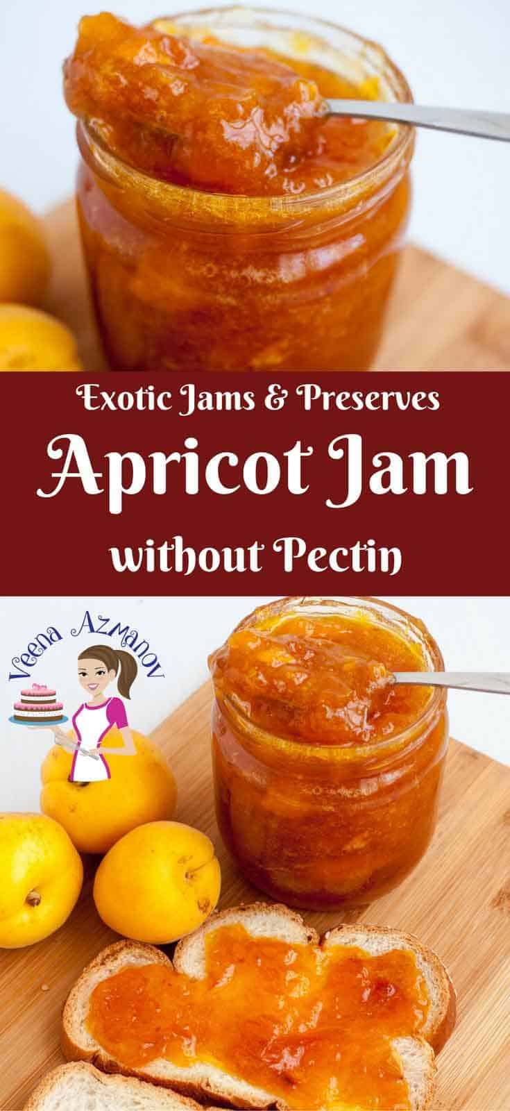Nothing beats a homemade jam made with fresh stone fruits in season. This homemade apricot jam is made without using any pectin. All it needs are some delicious fresh apricots, sugar, squeeze of lemon and a slow simmer. The result is a delicious apricot jam you can't stop eating. via veenaazmanov.com