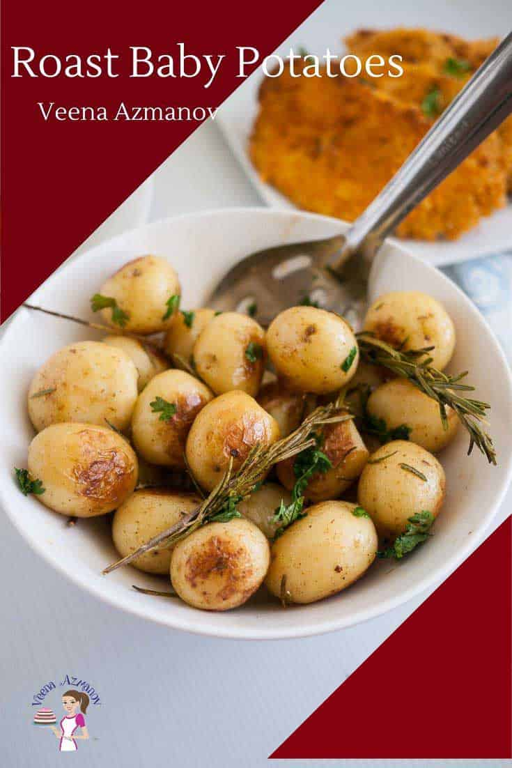 Rosemary and potatoes are a classic combination. These rosemary roast potatoes are a perfect side dish to serve alongside any dinner be it festive or just any weekday meal. These baby roast potatoes are especially moist and tender when cooked to perfection and take only 30 minutes to make. #roastpotatoes #rosemaryroastpotatoes #potatoes #potatosidedish #lemonpotatoes via @Veenaazmanov