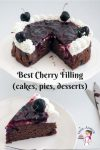 How to make Cherry Cake Filling, Cherry Pie Filling, Cherry Topping for desserts