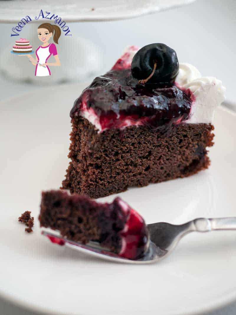 Moist Chocolate Cherry Cake Recipe - Veena Azmanov
