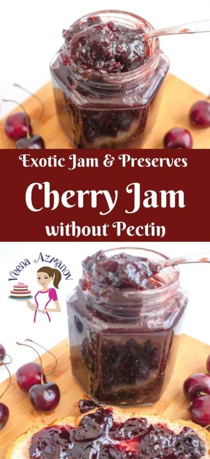 Make delicious homemade cherry jam from scratch without pectin the old fashion way just like grandma use to make