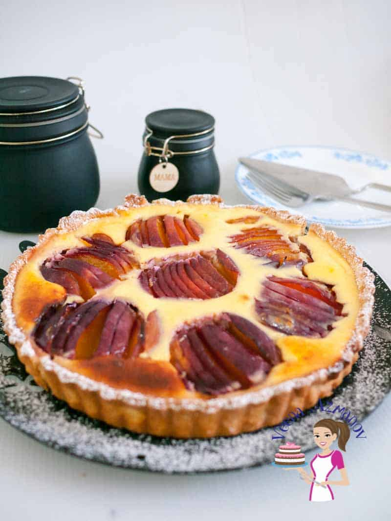 Rich Nectarine Tart with Cream Cheese and Fresh Seasonal Nectarines or Peaches