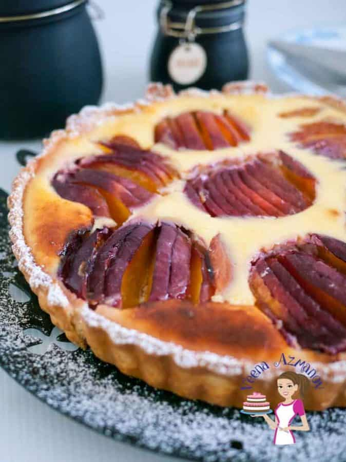 Rich Nectarine Tart with Cream Cheese and Fresh Seasonal Nectarines or Peaches