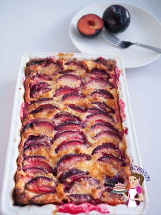 Delicious French Fresh Plum Clafoutis Recipe