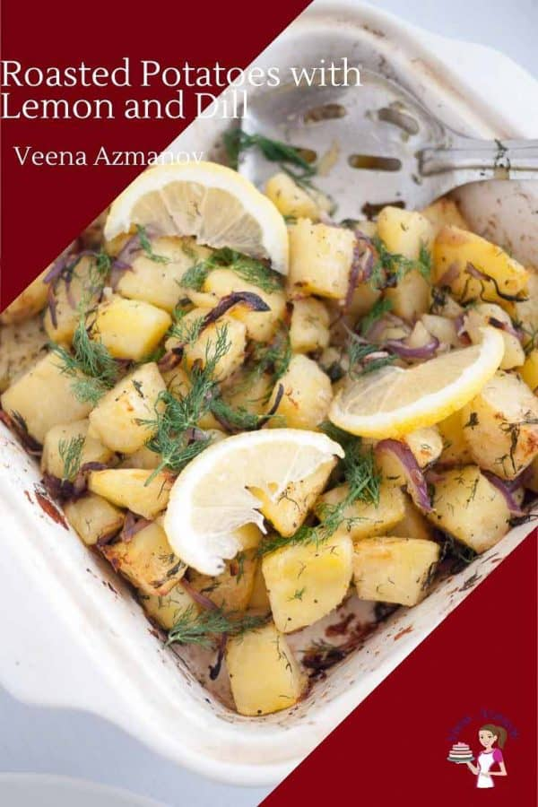 Roast Potatoes flavored with dill and lemon for the perfect side dish with any meal