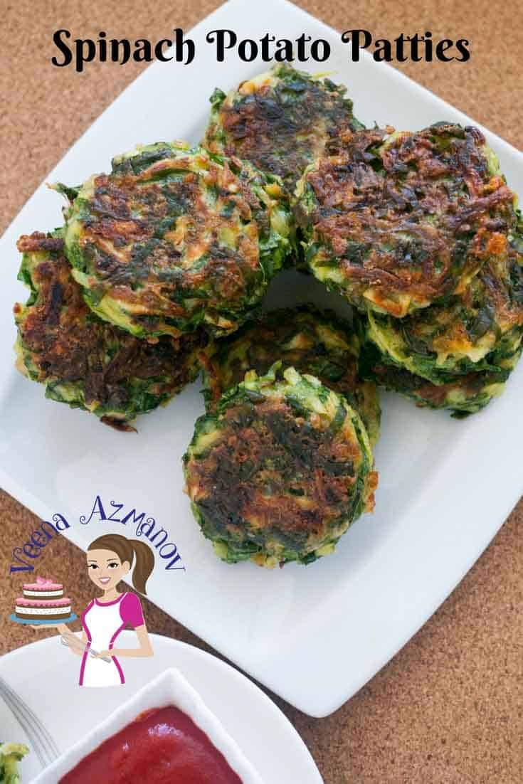 An image optimized for social media share for these patties aka spinach potato cakes make great appetizers or sides for any meal.
