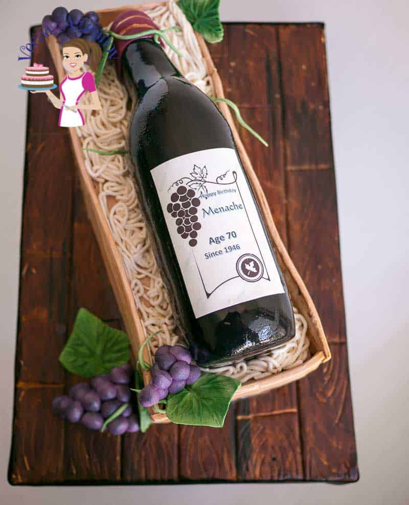 A Wine Bottle And Crate Cake Can Be Fun Gift For Man Or Woman