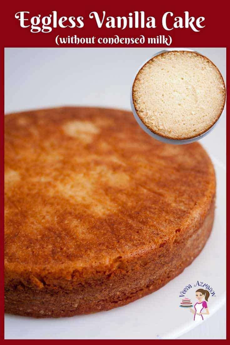 Vanilla Cake Recipe, Eggless Cake, Baked from Scratch