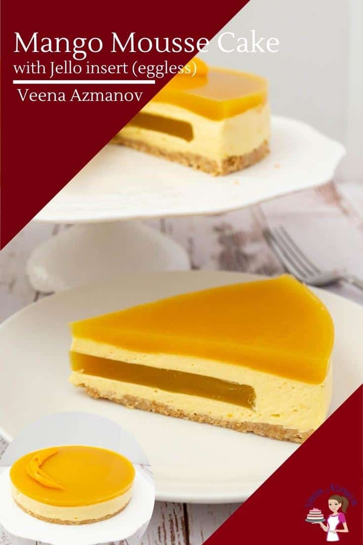 how to make a mango entremets cake with mango mousse and mango jello insert.