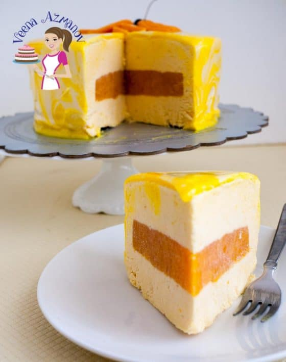 The exotic entremet dessert cake is an absolute show stopper! Delicious mango mousse cake with a mango jello center that just melts in the mouth. Glazed with a creamy mirror glaze for that ultimate smooth finish. Looks quite complicated but is quite achievable. The real challenge is waiting!