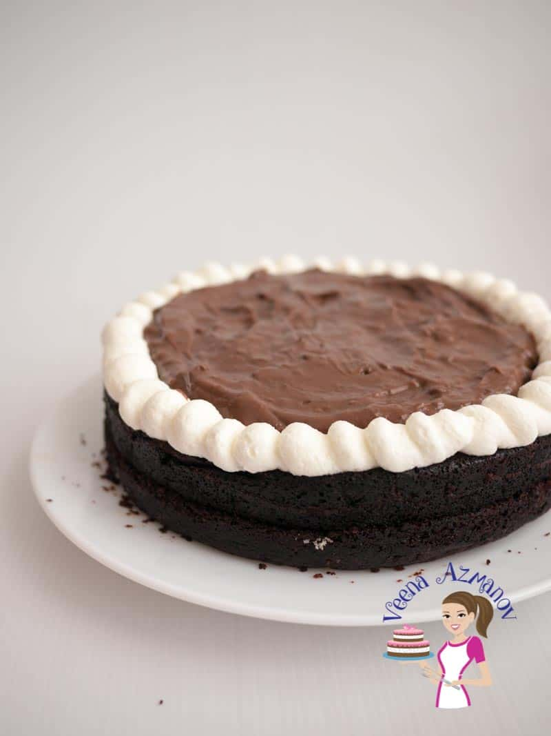 Moist Eggless Chocolate Fudge Cake Recipe