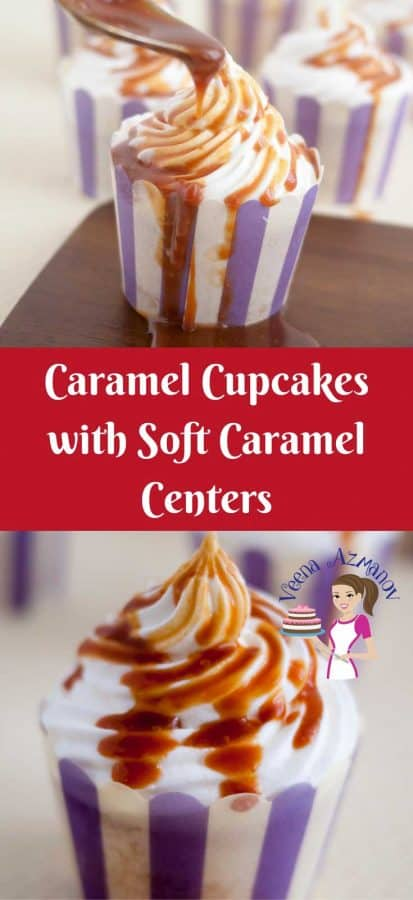 These Caramel Cupcakes are the most decadent you can get. A light and fluffy vanilla cake filled with soft caramel, swirled with a Swiss Meringue Buttercream then drizzled with more caramel for that added luxury.