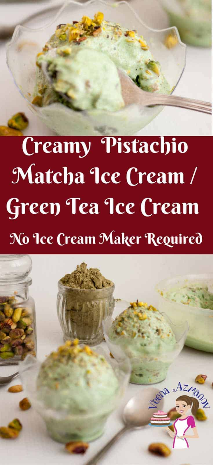 This deliciously creamy Japanese matcha green tea ice cream has a melt in the mouth texture. Unlike traditional match ice cream this is rich, creamy and flavored with pistachio nuts for that added crunch