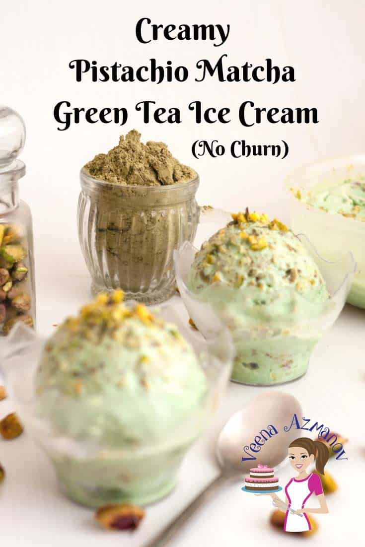 This deliciously creamy Japanese matcha green tea ice cream has a melt in the mouth texture. Unlike traditional match ice cream this is rich, creamy and flavored with pistachio nuts for that added crunch.
