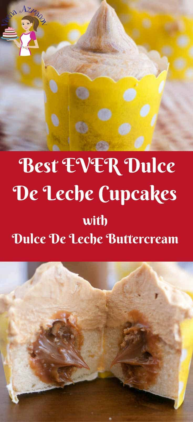 The Dulce de leche cupcakes recipe have a light and fluffy vanilla sponge with creamy leche centers topped with rich dulce de leche buttercream. They are an addiction, so you can't just stop at one. Simple and easy treat for kids or adults.
