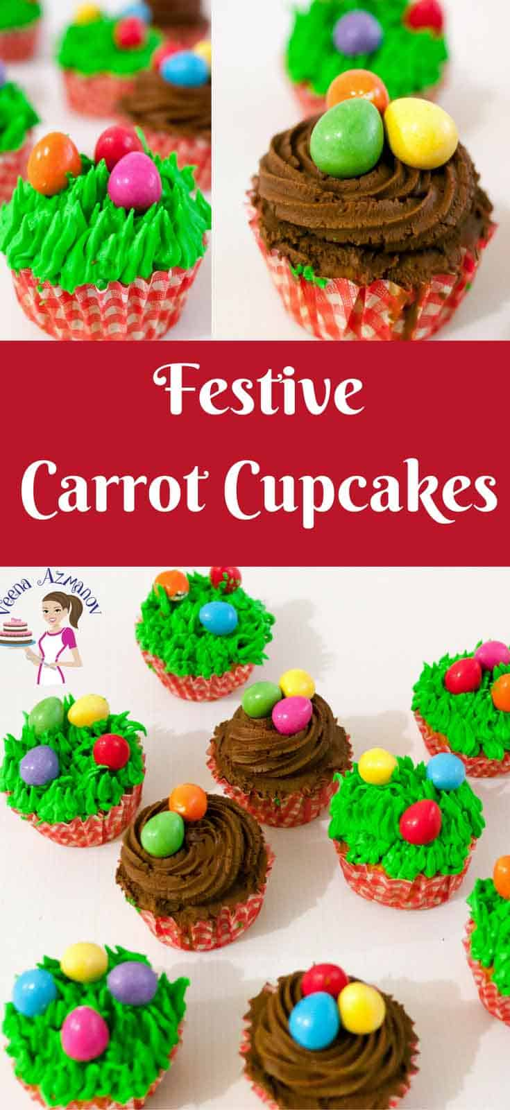 Easy and incredibly super moist these carrot cupcakes topped with luscious sweetfrosting will be your favorite from now on. I made them festive with these cute Easter eggs but these are delicious all year round.