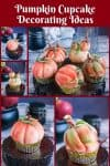 Five different cupcake decorating ideas to try this fall. These are pumpkin in fondant on cupcakes