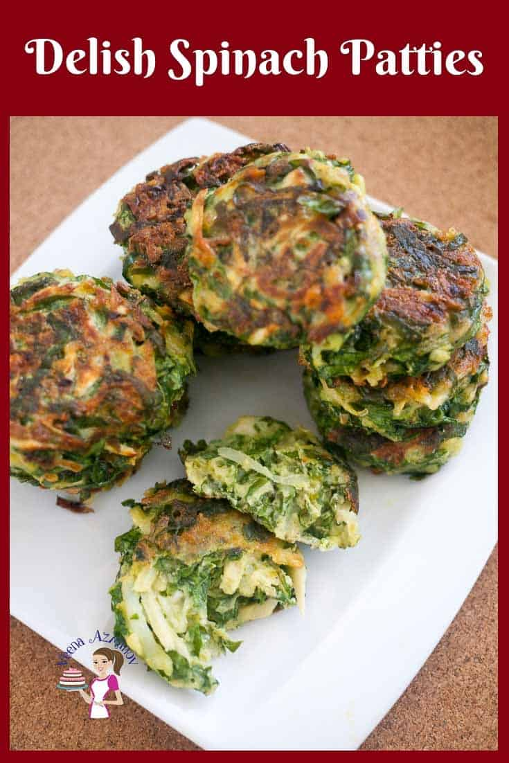 These spinach potato patties or cakes make perfect appetizers or side dish to any meal or even sandwich stuffers and wraps. Packed with nutritious green these are easy to make any time of the day. #spinach #potato #patties #cakes #appetizers #sides via @Veenaazmanov