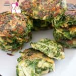 Spinach potato patties.