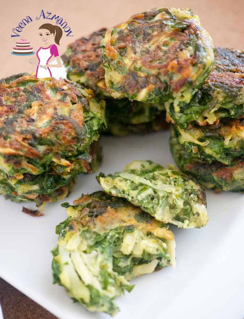 These patties aka spinach cakes make great appetizers or side dish. Easy to make, full of nutritious greens and absolutely delicious to enjoy any time of the year. Serve them as a snack with some ketchup or sandwich them in mini burger buns for a quick veggies burger.