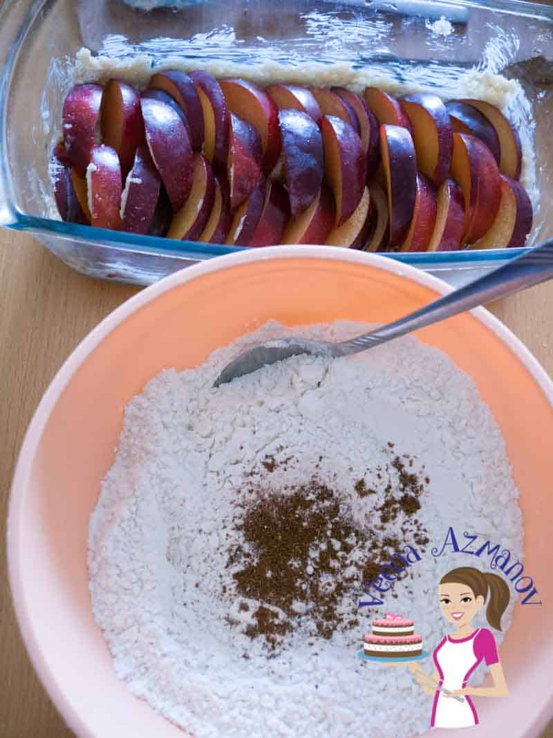 Have all the ingredients ready for this plum cake Progress pictures