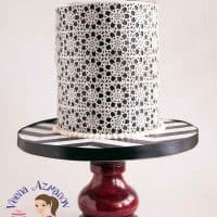 Black and White Wafer Paper Lace