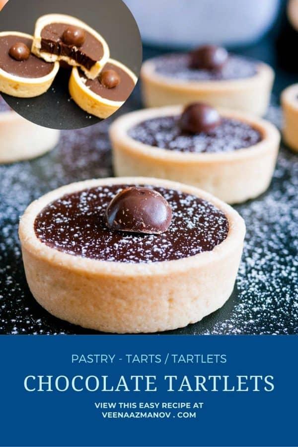 Pinterest image for tartlets.