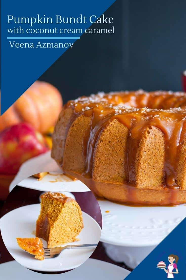 How to make a bundt cake with pumpkin, coconut, and caramel