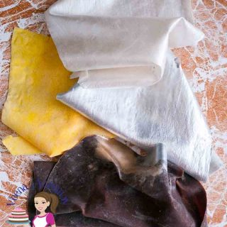Edible fabric for cake decorating.