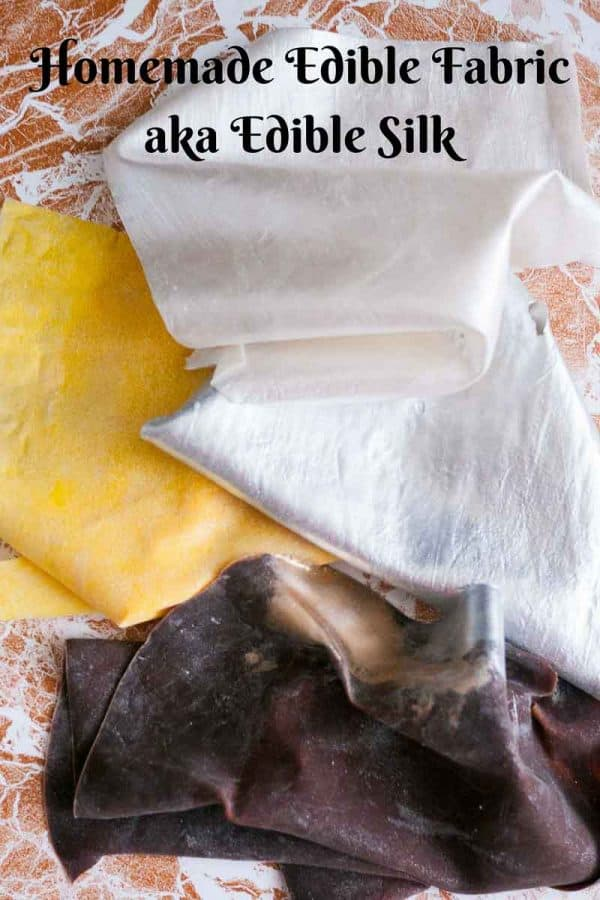 The latest trend in cake decorating has been these edible fabric sheets also called edible silk. Surprisingly this homemade edible fabric recipe is easier than you can imagine. It takes no more than 10 minutes to make one sheet of homemade edible silk
