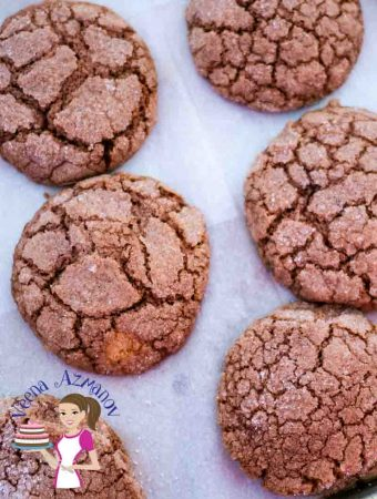 The BEST Ginger Chocolate Crinkle Cookies – Eggless Recipe