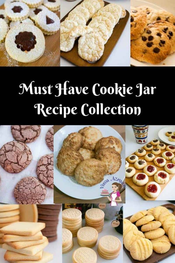 A Collection of cookie recipes from simple easy butter cookies to the best chocolate chip cookies - weather you want to make decorated sugar cookies or simple thumbprint cookies, easy custard cookie recipe, as well as linzer cookies for Christmas and the holidays